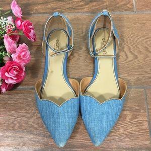 ❤️5/25$❤️Crown Vintage Flats Sandals Blue 6M